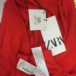 Zara Tops - NWT Zara Vneck  Faux Wrap Top Blouse Small